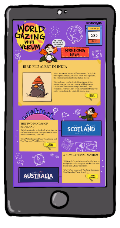 Mystic Post- Animated news Papers for kids